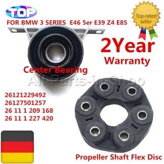 AP03 26117511454 26127501257 1220843 For BMW E36 E39 E46 E85 E81 Driveshaft Center Carrier Support + Bear Flex Disc Joint SET