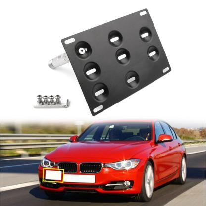 Areyourshop Bumper Tow Hook License Plate Mount Bracket For BMW F30 F32 F10 3/4/5 SERIES License Plate Holder Car Accessories