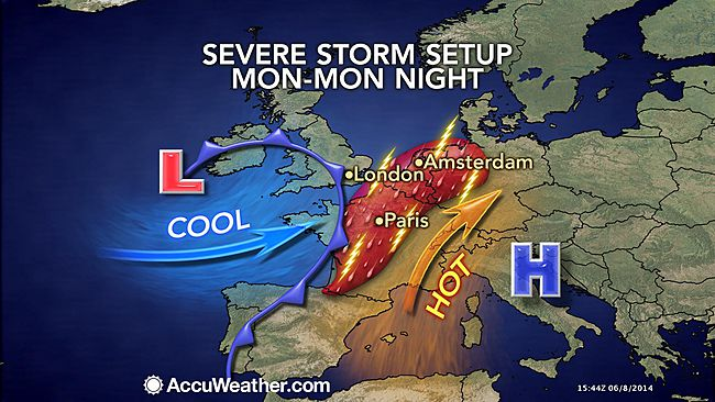 hailstorm synoptics Europe 2014