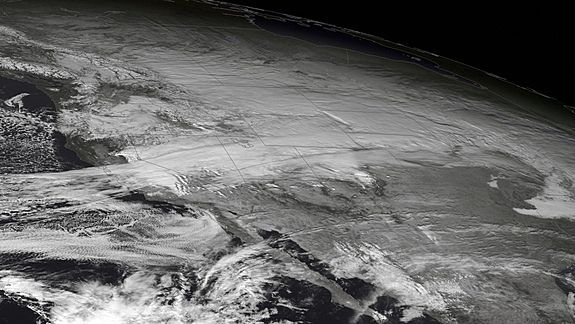 sat pic of winter storm west USA 3rd dec 2013