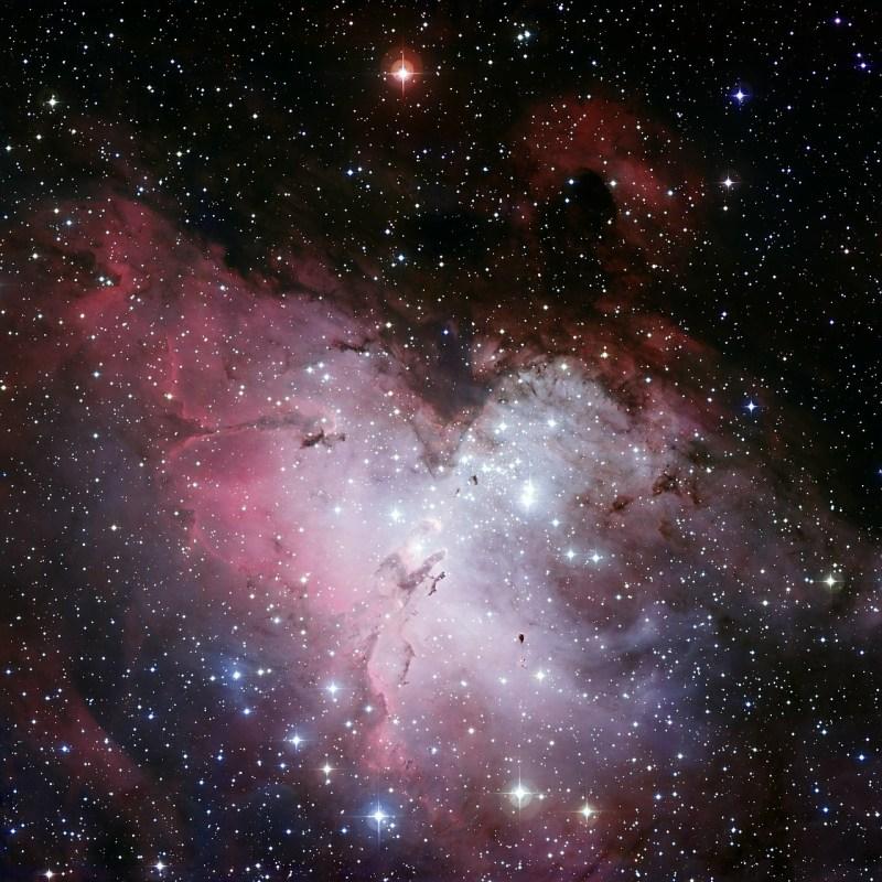eagle nebula, ic 4703, fog