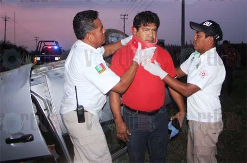 Vuelca profesor de Telesecundaria en Cintalapa
