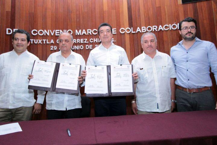 Vincula esfuerzos Rutilio Escandón con rector de la Unach
