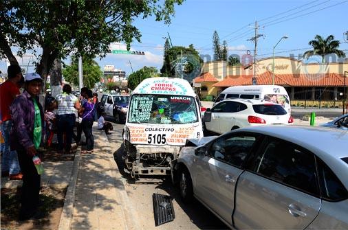 Colectivazo deja a siete personas lesionadas