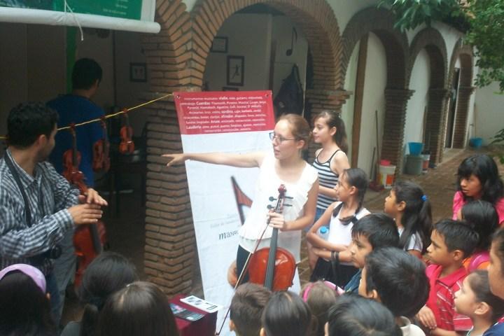 Ofrecen concierto didáctico en el Centro Cultural  Exconvento de Santo Domingo