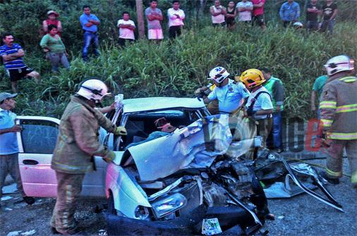 Encontronazo en Coita deja seis heridos