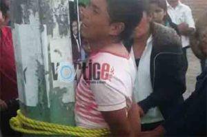 Amarran a otro ladrón en San Cristóbal