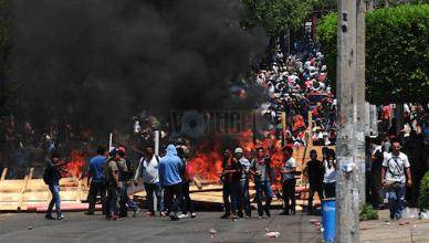Enfrentamiento entre policías y maestros_7