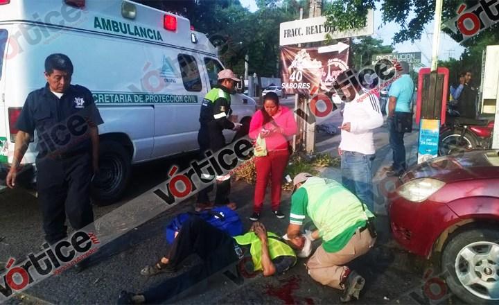Atropellan a ciclista en el bulevar Ángel Albino Corzo