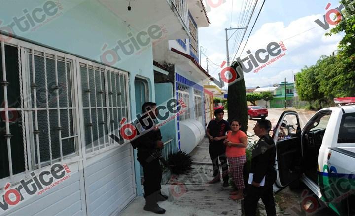 Colonos evitan robo en una vivienda de Tuxtla