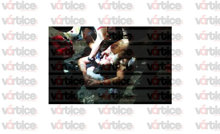 Rafaguean vehículo y conductor resulta gravemente herido