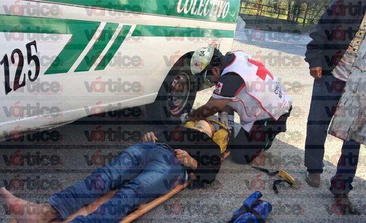Colectivazo deja a cinco pasajeros heridos; hay varios fracturados