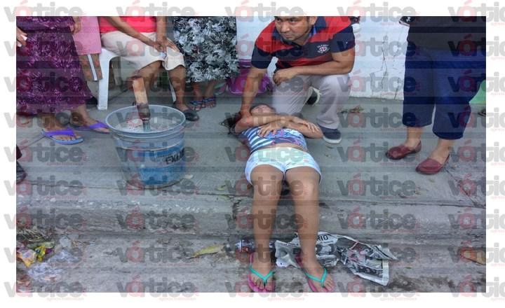 Impacta taxi a menor en San Juan Sabinito