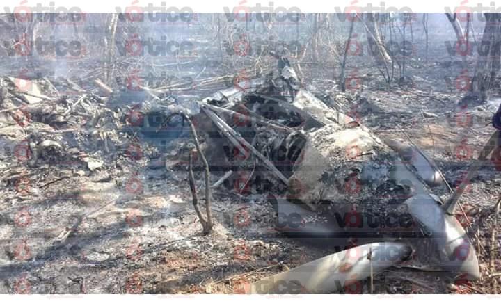 Se desploma avioneta en Jiquipilas; hay dos muertos