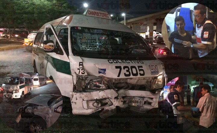Colectivazo deja a seis personas heridas