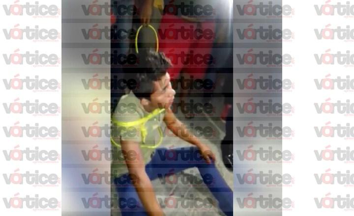 Amarra y casi linchan a presunto delincuente en Berriozábal