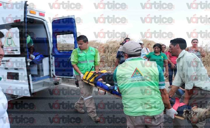Atropellan a motorrepartidor y es internado en el hospital