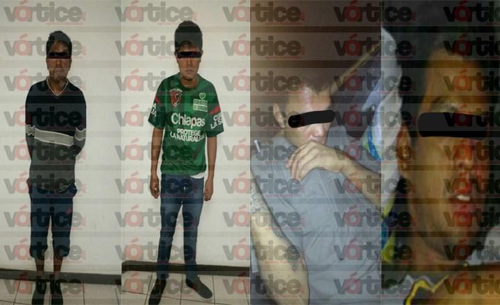 Policía Municipal en coordinación con PGJE y SSyPC  detiene a cuatro sujetos por robo a tiendas OXXO