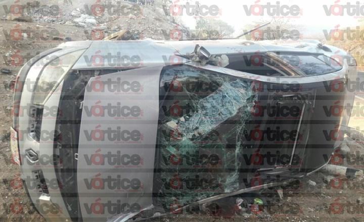 Vuelca automovilista y pierde la vida en Chiapa de Corzo
