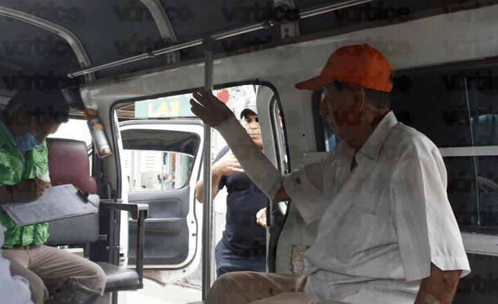 Pasajero se corta el brazo tras frenón de un colectivo en Tuxtla