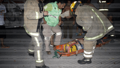 Sexagenario cae al fondo de un dren pluvial en Tuxtla