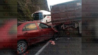 Fallece mujer tras accidente automovilístico en la vía de cuota San Cristóbal-Tuxtla