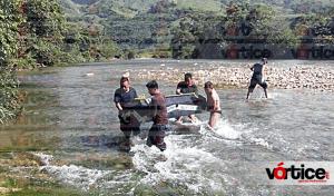 Localizan cadáver en río de Simojovel; estaba amarrado de pies y manos