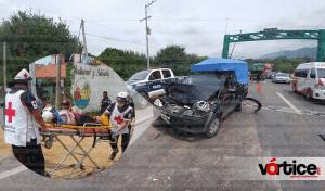 Carambolazo en Chiapa de Corzo deja una persona herida