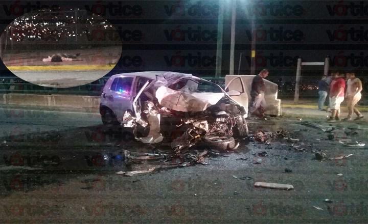 Muere automovilista tras salir proyectado de su vehículo en Tuxtla