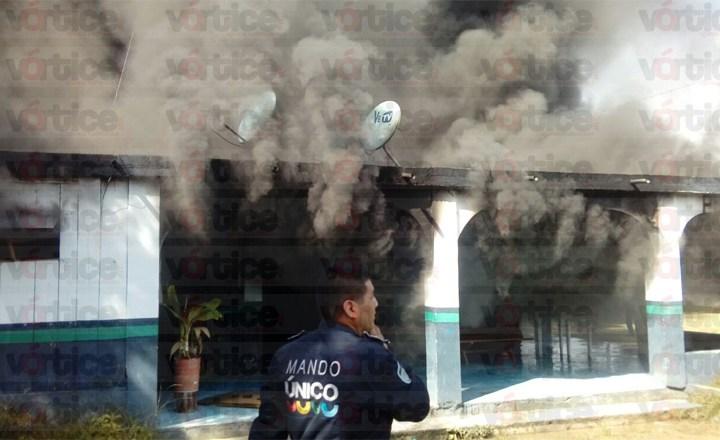 Se incendia depósito de armas de la Policía Estatal Preventiva en Ocosingo