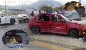 Aparatoso accidente de tránsito deja a dos damas gravemente heridas