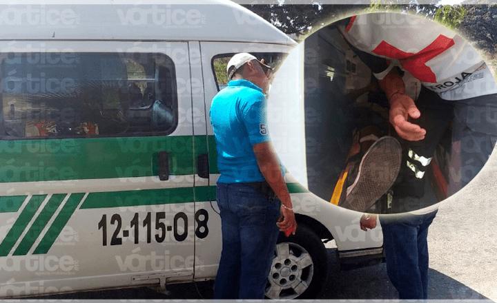 Balean a colectivero en Berriozábal tras discutir con otro automovilista