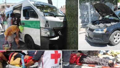 Colectivazo en Tuxtla deja 9 pasajeros lesionados; el responsable huyó