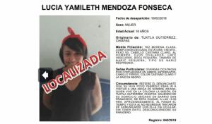 Localizan en El Salvador a joven desparecida en Tuxtla