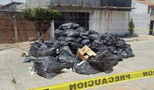 Arrojan residuos peligrosos en la colonia Castillo Tielemans