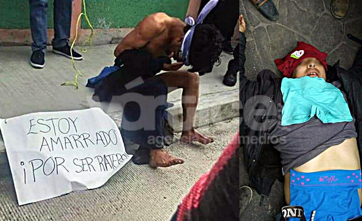 Amarran y golpean a presuntos ladrones de ropa interior en San Cristóbal
