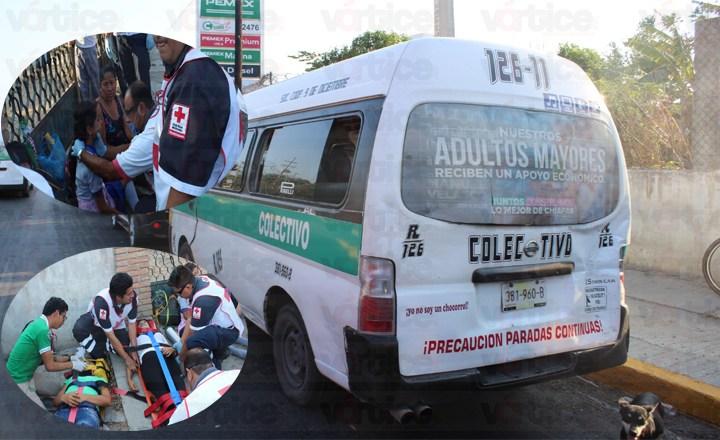Choque entre colectivos deja a ocho pasajeros heridos