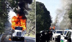 FNLS incendia tráiler durante desalojo en San Cristóbal