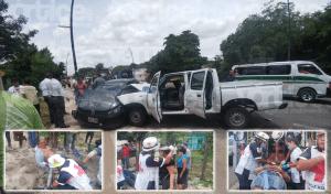 Seis heridos en carreterazo en la vía Tuxtla – La Angostura