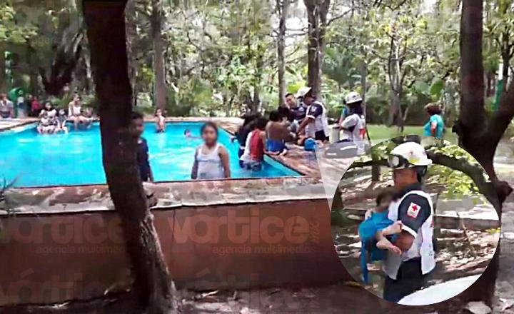 Niña casi se ahoga en la piscina del parque Joyyo Mayu