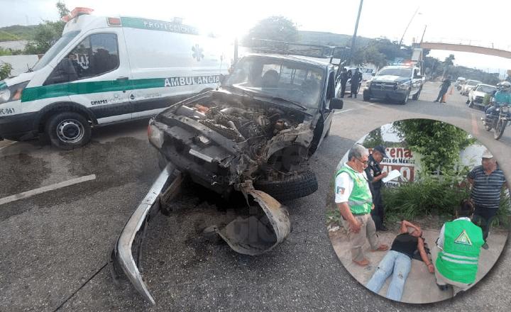 Se accidenta Luis Miguel en Chiapa de Corzo; quedó prensado en su 'troca'