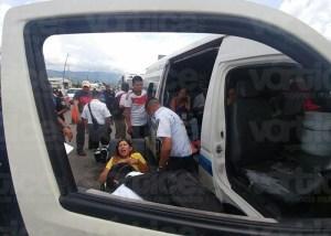 Carambolazo entre transportistas deja ocho heridos