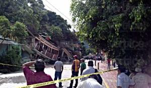 Temor por derrumbe de unas viviendas en Yajalón