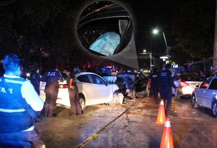 Muere conductor tras encontronazo frente al Parque Patricia