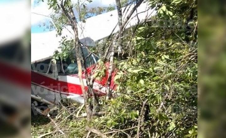 Se desploma avioneta en Chiapas; hay dos heridos