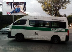 ¡Otra vez! Colectivo atropella a ciclista en Tuxtla