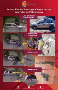 Encuentran cartuchos y vehículo involucrado en el tiroteo en Patria Nueva