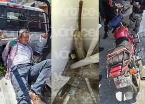 Detienen a motociclista con un arma de fuego en el centro de Tuxtla