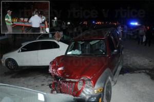Jeep choca contra cuatro vehículos en Tuxtla; hay 10 heridos