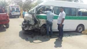 Colectivazo en la carretera a Suchiapa deja ocho heridos